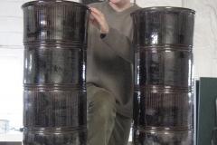 Tenmoku Glazed Urns