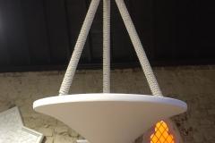 Spun Plaster Hanging Lamps