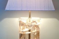 Crystal Amber Resin Table Lamp