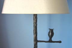 Cast Bronze Owl Standard Lamp