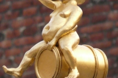 Gilded Baccus Figure