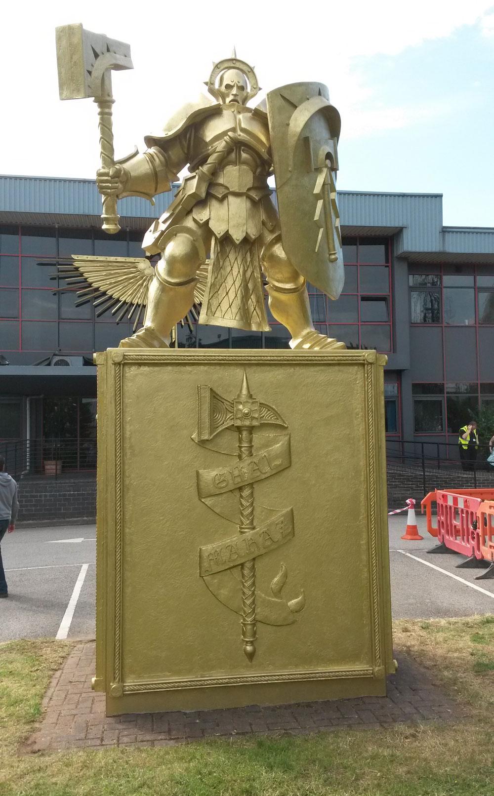 Games Workshop Statue And Wing Emblem Ian Bishop Design Ltd